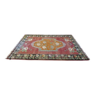 Antique Boho Style Rug- 6′8″ × 9′7″ For Sale