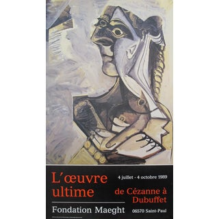 1989 Original French Exhibition Poster - Fondation Maeght, l'Oeuvre Ultime For Sale