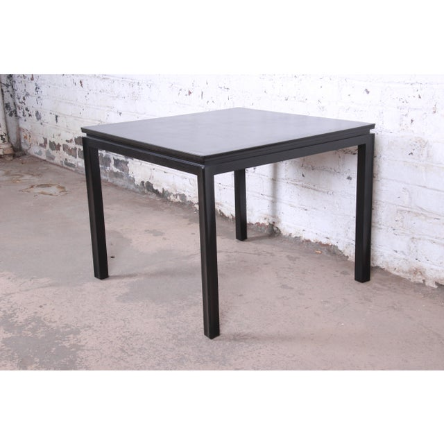 1950s 1950s Edward Wormley for Dunbar Ebonized Mahogany Game Table or Occasional Side Table, Newly Refinished For Sale - Image 5 of 9