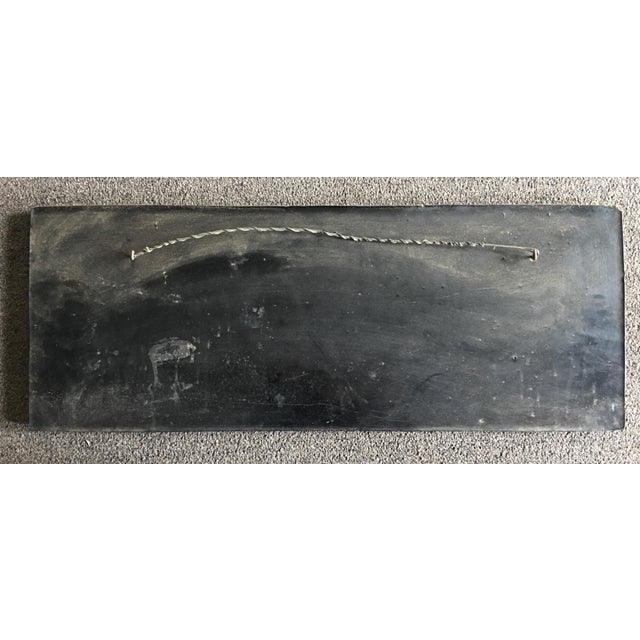 Large Antique Hand Carved Black Lacquer Plaque For Sale In Los Angeles - Image 6 of 7