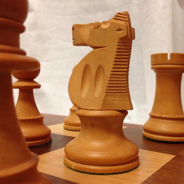 Vintage Drueke & Sons Chess Set in Walnut For Sale - Image 5 of 8