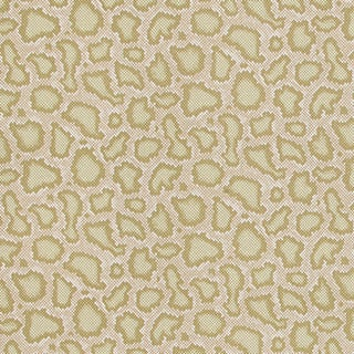 Schumacher X Mary McDonald Park Avenue Python Wallpaper in Greige For Sale
