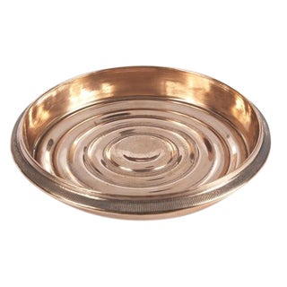 Copper Plated Brass Coin Edged Bottle Coaster For Sale
