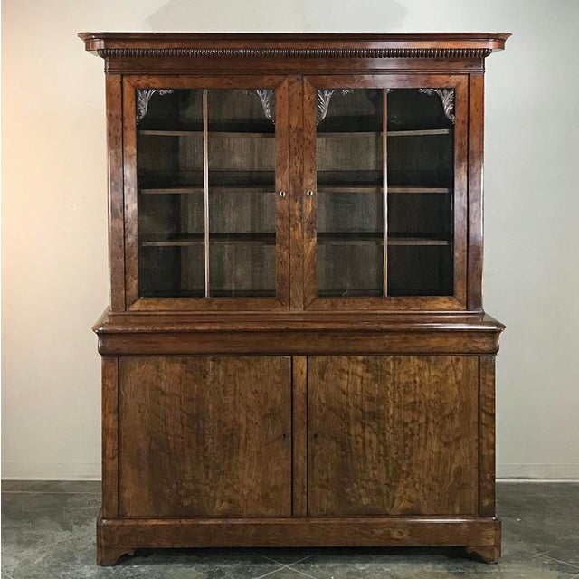 Mid-19th Century Louis Philippe Mahogany Bookcase For Sale - Image 4 of 11