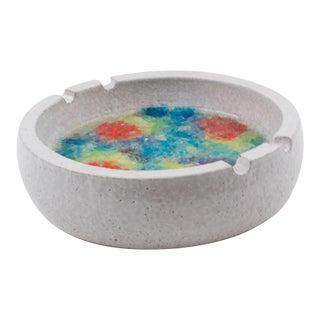 Bitossi Italy for Raymor Glaze Ceramic Ashtray Bowl Glass Mosaic For Sale