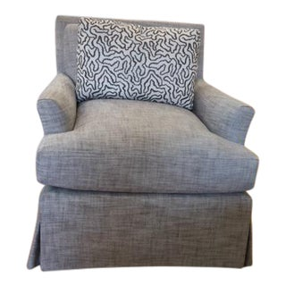 Harden Upholstered Swivel Chair & Pillow