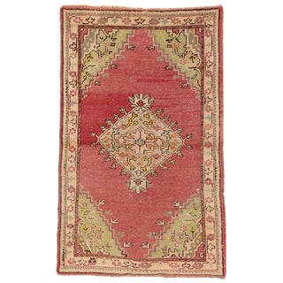 20th Century Turkish Oushak Accent Rug - 3′6″ × 5′7″ For Sale