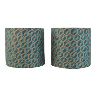 Fortuny Favo Sconce Shades - a Pair For Sale
