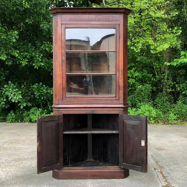 Mid 19th Century 19th Century French Louis Philippe Corner Cabinet For Sale - Image 5 of 13