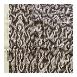 Quadrille China Seas Brown on Tint Petite Zig Zag Fabric- 3/4 Yard For Sale