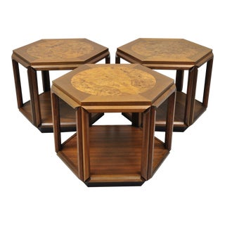 Vintage Mid-Century John Keal for Brown Saltman Side Tables - Set of 3 For Sale