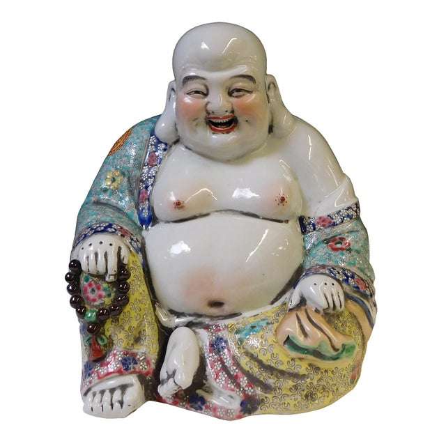 Chinese Porcelain Canton Happy Buddha Statue - Image 6 of 8