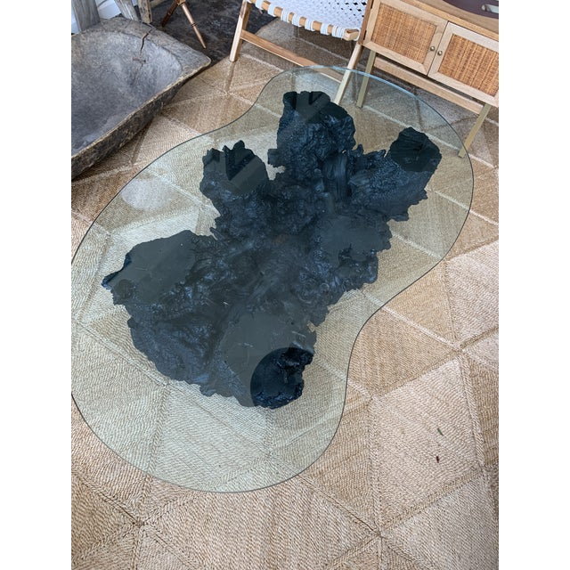 1960s Vintage Organic Modern Black Root Coffee Table For Sale - Image 5 of 5