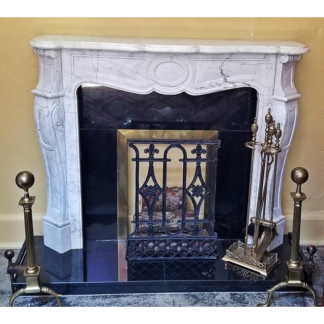 Shabby Chic 20c Irish White Marble Fireplace - Complete For Sale - Image 3 of 11