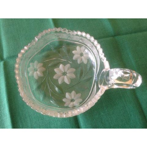 Vintage Cut Glass Condiment Dish - Image 3 of 5