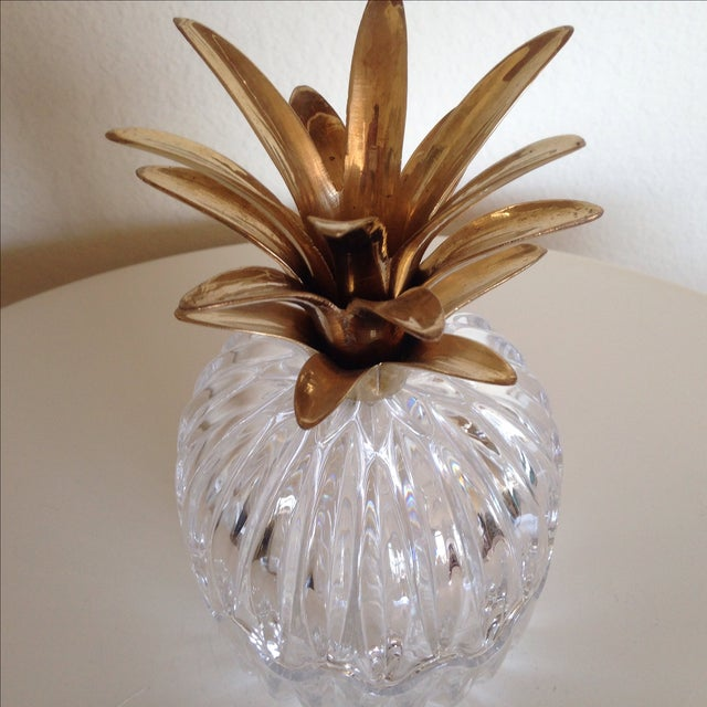 Vintage Glass and Brass Pineapple - Image 6 of 6