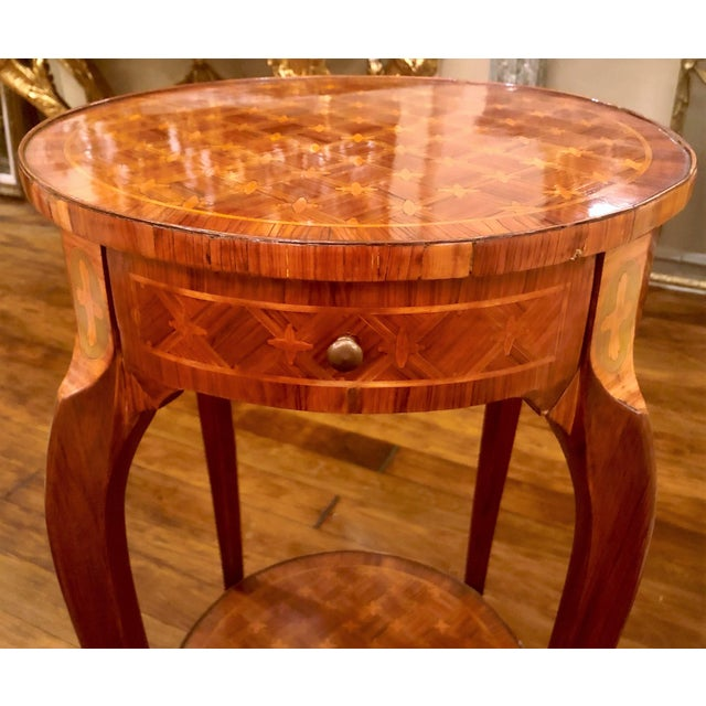 Antique Exceptional Inlaid Parquetry Table, Circa 1860-1870. For Sale - Image 4 of 5