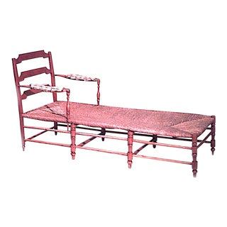 French Provincial Fruitwood Chaise For Sale