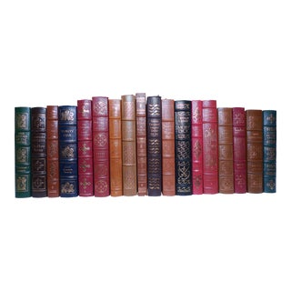 1980s Vintage Leather Books, Easton Press Collection - Set of 18 For Sale