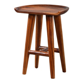 Monkey Pod Counter Stool For Sale