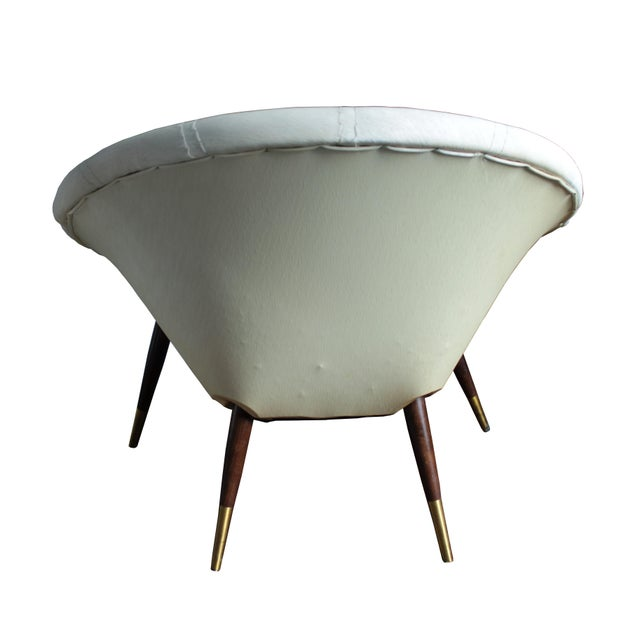 Mid-Century Modern Mid-Century Saucer Chair For Sale - Image 3 of 5