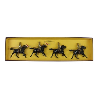 Britains' the Empress of India's 21st Lancers Cavalry Officer Figures - Set of 4 For Sale
