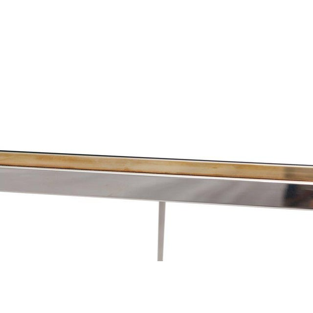 "Willy Rizzo ""Flaminia"" Brass and Chrome Dining Table, 1970s For Sale - Image 6 of 7"
