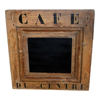 French Pine Cafe Chalkboard Sign For Sale