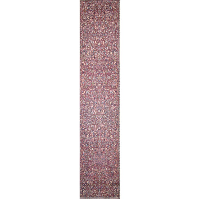 Antique Persian Mashad Extra Long Hallway Runner For Sale In Dallas - Image 6 of 8