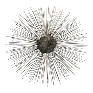 Curtis Jere Vintage Brass and Bronze Brutalist Starburst Wall Hanging For Sale