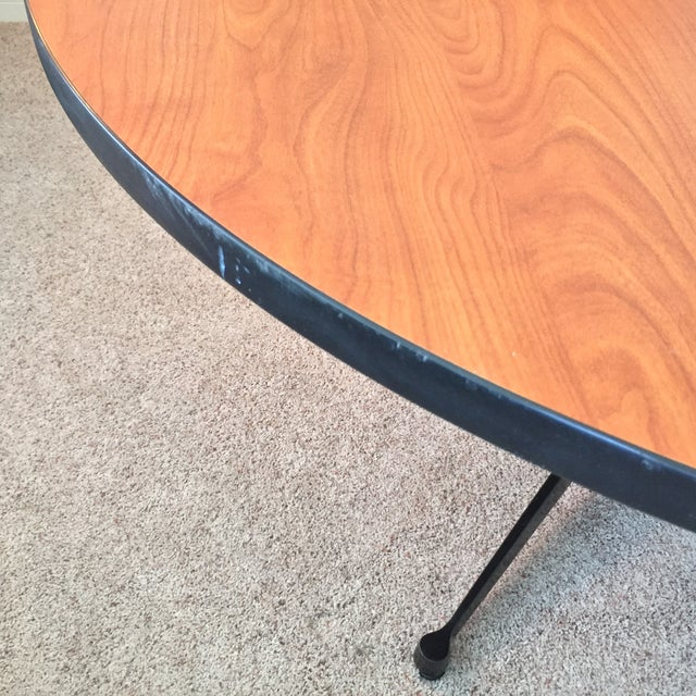 Brown Eames for Herman Miller Contract Base Dining Table For Sale - Image 8 of 9