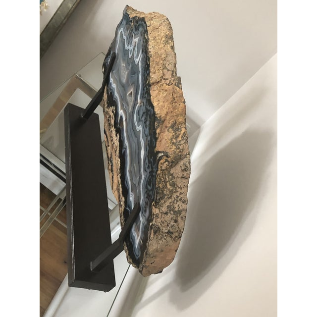 2000 - 2009 Giant Agate Geode on Stand For Sale - Image 5 of 11