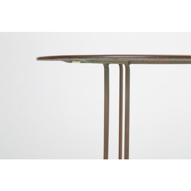 Round Patio Table With Oxidized Bronze Frame by Walter Lamb for Brown Jordan For Sale In Los Angeles - Image 6 of 13