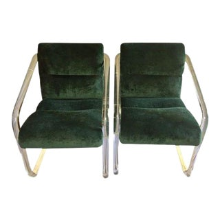 1970s Lion in Frost Lucite Chairs- A Pair For Sale