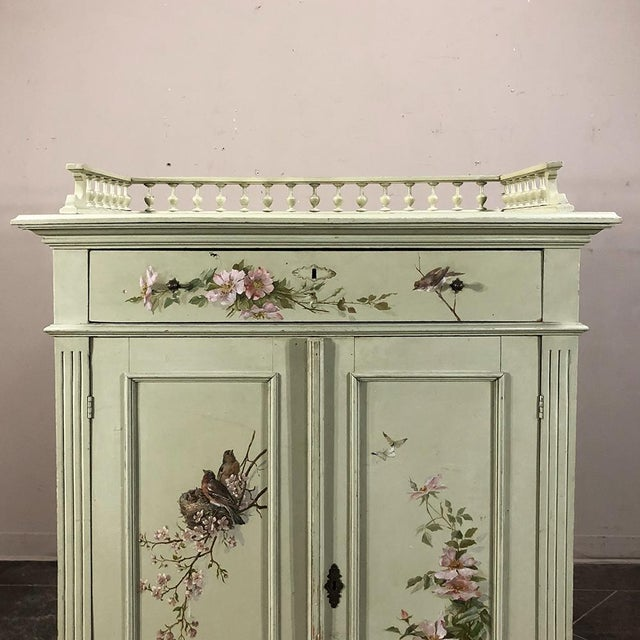 Antique Belle Epoque Painted Cabinet For Sale - Image 4 of 13