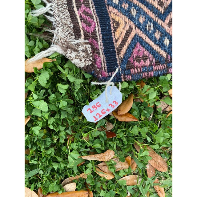 Antique Nomadic Embroidered Cecim Kilim Runner Rug For Sale In Houston - Image 6 of 8