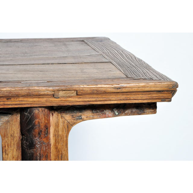 Chinese Painting Table with Round Legs For Sale - Image 9 of 13