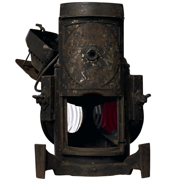 Metal 19th Century Industrial Adlake Rare Railroad Switching Light/Lantern For Sale - Image 7 of 13