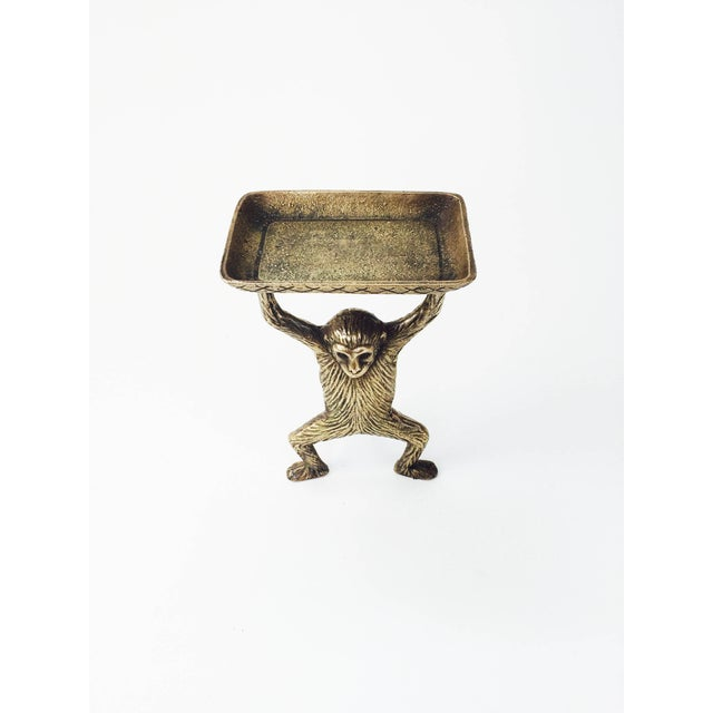 Vintage Brass Monkey Business Card Dish - Image 3 of 5