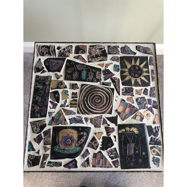 Tile Mosaic Side Table For Sale - Image 4 of 6