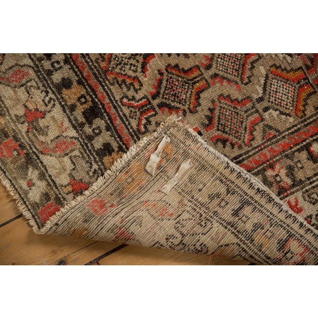 "Cotton Antique Hamadan Square Rug - 4'1"" x 4'9"" For Sale - Image 7 of 12"