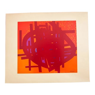 Mid Century Signed Edgard Pillet Colour Offset Collection For Sale