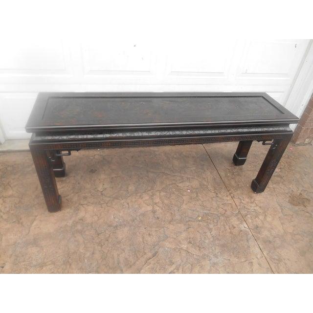 John Widdicomb Chinoiserie Console Table For Sale - Image 13 of 13