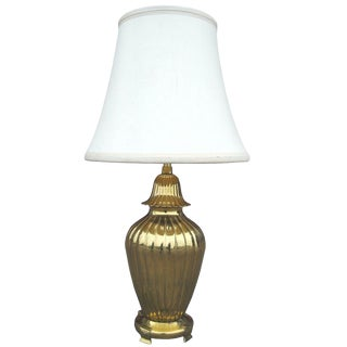 Marbro Ribbed Brass Lamp For Sale