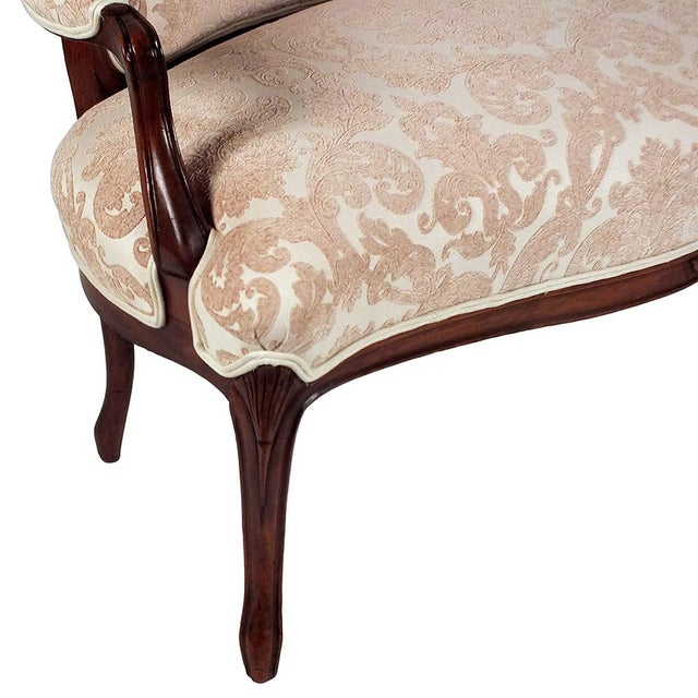 Louis XV-style Carved Frame Settee - Image 6 of 8