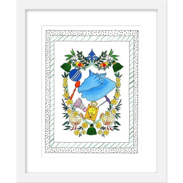"Medium ""'A Shell Proper' Heraldry"" Print by Rachel Rogers, 17"" X 21"" For Sale"