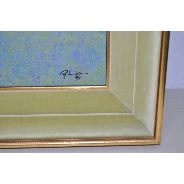 Mid-Century Modern Mid-Century Modern Oil Painting by G. Richardson C.1959 For Sale - Image 3 of 8