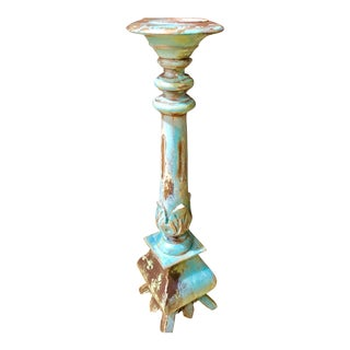 Custom Painted Tall Candle Holder For Sale