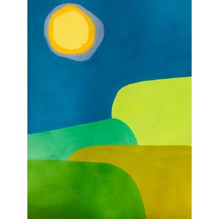 Tony Marine Mid-Century Inspired Abstract Landscape Painting For Sale