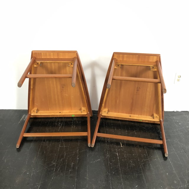 1960's Teak Frisco Designed by Folke Ohlsson Tables - a Pair For Sale - Image 9 of 13